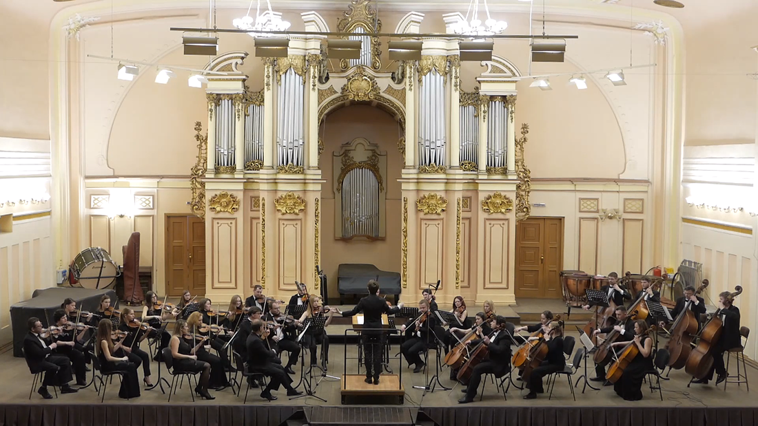 The KLK String Orchestra performs the premiere of
